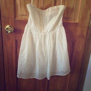 Kimchi Blue Dresses - White cotton strapless dress